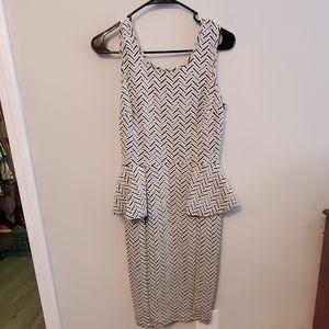 Windsor peplum sided midi dress